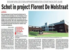 Schot in project Florent De Molstraat